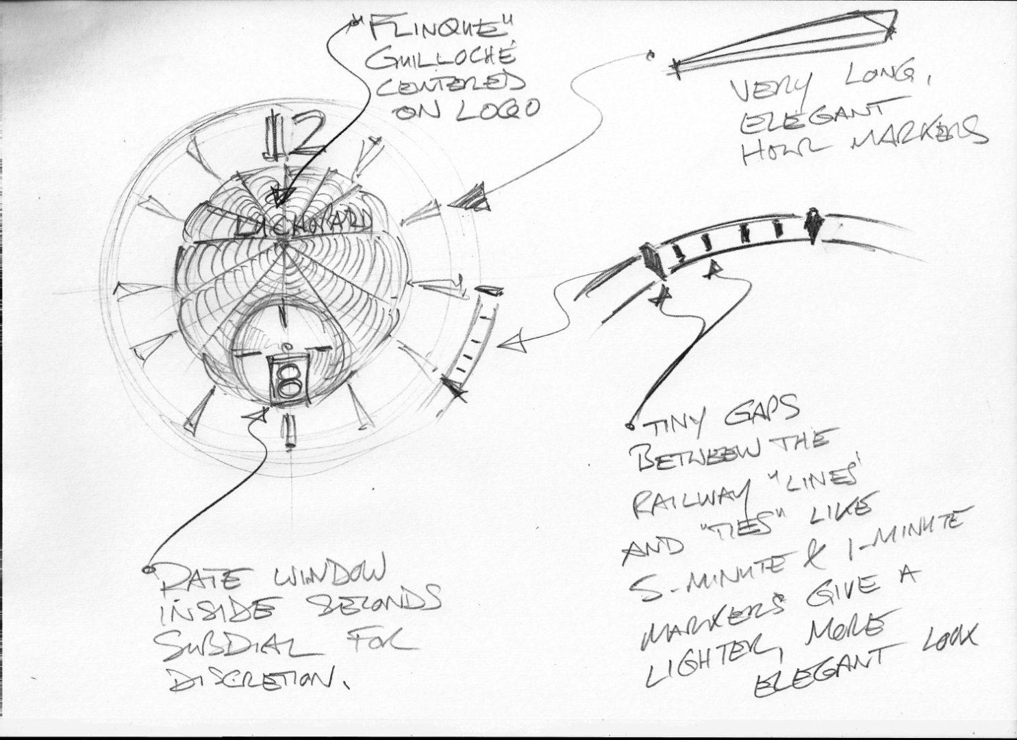 L.U.C XPS 1860 - Sketch 1 - Dial inspiration