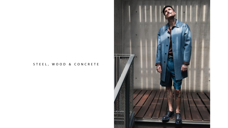 STEEL,WOOD & CONCRETE